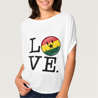 Love Ghana Smiling Ghanian Flag Tshirt