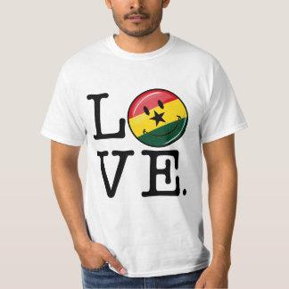 Love Ghana Smiling Ghanian Flag Tshirts
