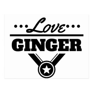 Love Ginger Postcard