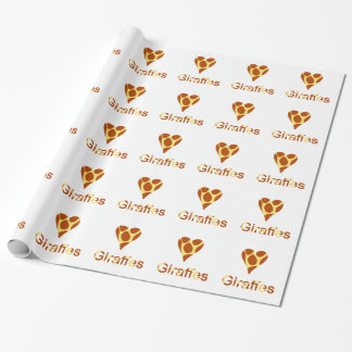 Love Giraffes Fun Animal Print Wrapping Paper