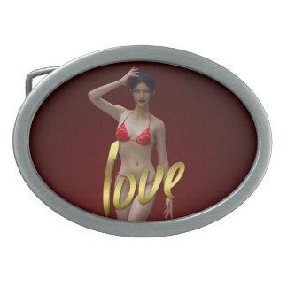 Love Girl Xiao Wen Belt Buckle