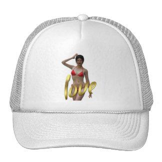 Love Girl Xiao Wen Hats