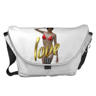 Love Girl Xiao Wen Messenger Bags