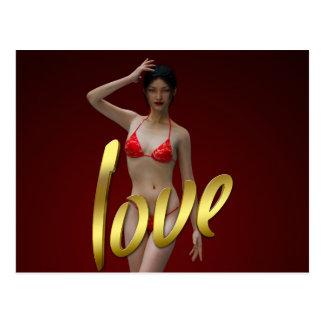 Love Girl Xiao Wen Postcard