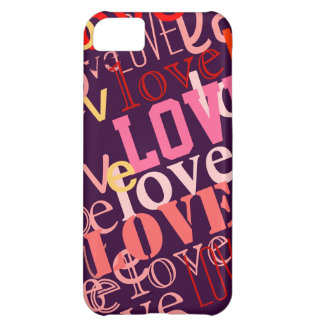 love girly color words iPhone 5C case