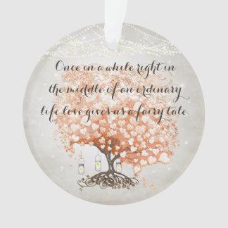 Love gives us Fairy Tale Heart Leaf Tree Wedding