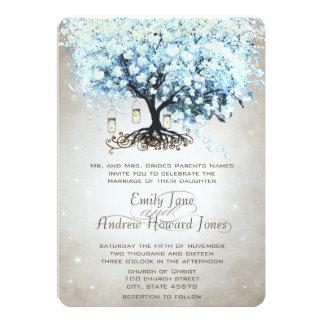 Love gives us Fairy Tale Heart Leaf Tree Wedding 13 Cm X 18 Cm Invitation Card