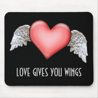 Love gives you Wings Mouse Pads