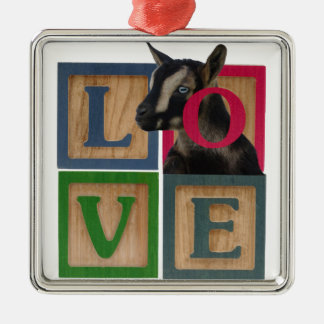 LOVE GOAT CHRISTMAS ORNAMENT BLUE EYES NIGERIAN DW