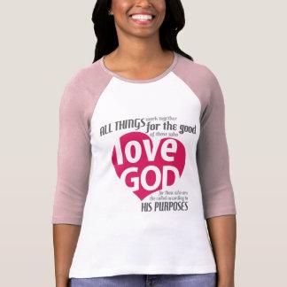 LOVE GOD HEART Long sleeved 2-tone Tee
