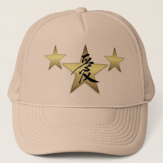 Love Gold Star Trucker Hat