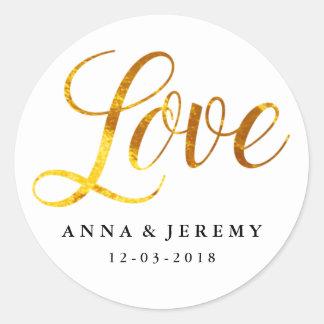 Love Gold Wedding Sticker