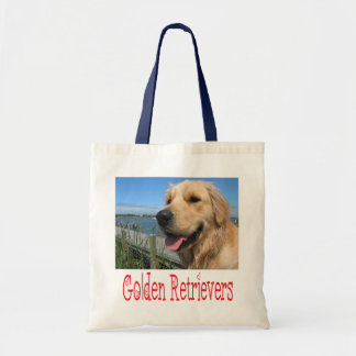 Love Golden Retriever Puppy Dog Canvas Tote Bag
