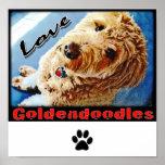 Love Goldendoodles Poster