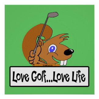 Love Golf Love Life Poster