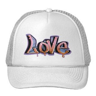 love graffiti mesh hat