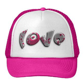 love graffiti mesh hats