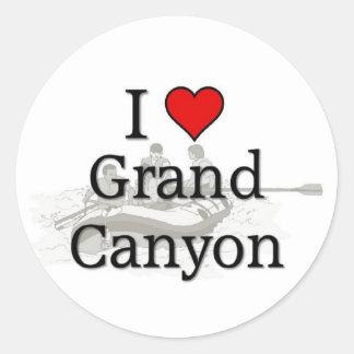 Love Grand Canyon Round Sticker