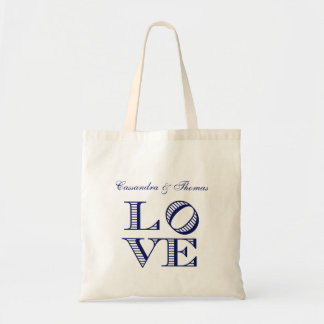 LOVE Graphic Text - Blue Tote Bag
