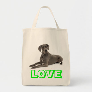 Love Great Dane Puppy Dog Tote Bag Grocery Tote Bag
