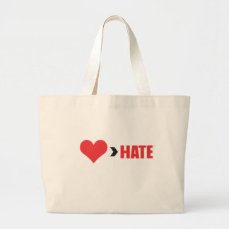 LOVE GREATER THAN HATE TOTE BAG