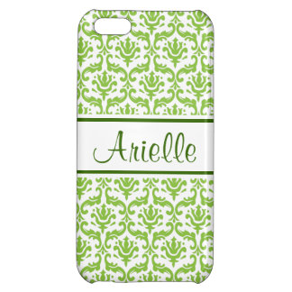 Love Green Damask Personalized iPhone 5 Case