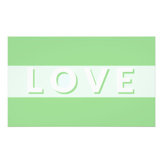 Love - Green Photo Print