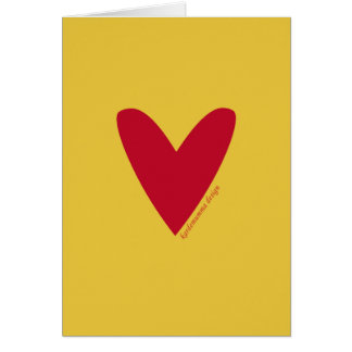Love greeting card - heart - Happy Valentine