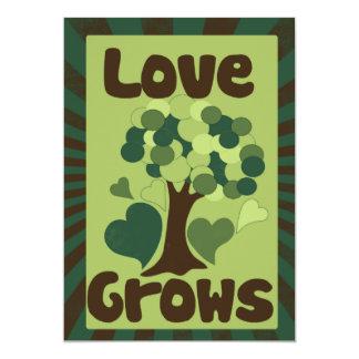Love Grows 13 Cm X 18 Cm Invitation Card