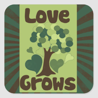 Love Grows Square Sticker
