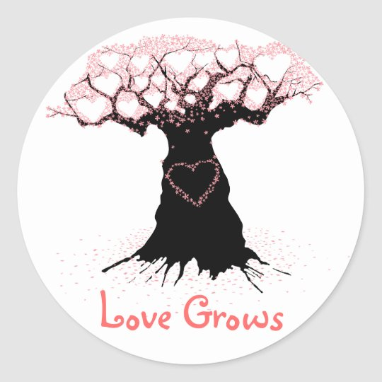 Love Grows Stickers - Perfect for Weddings!