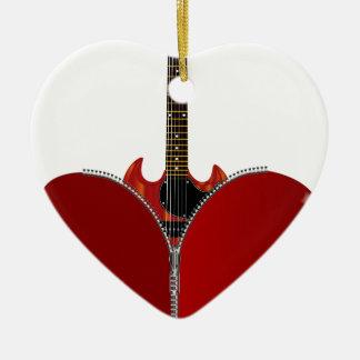Love Guitar Ceramic Heart Decoration