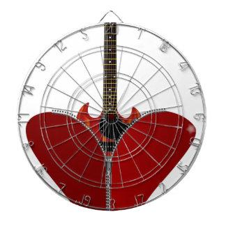 Love Guitar Dart Board