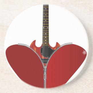 Love Guitar Drink Coasters