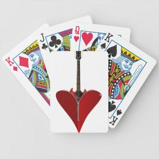 Love Guitar Poker Deck