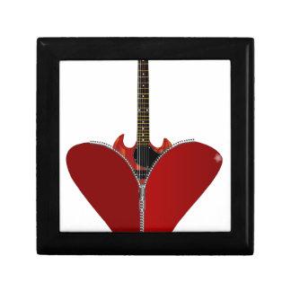Love Guitar Small Square Gift Box