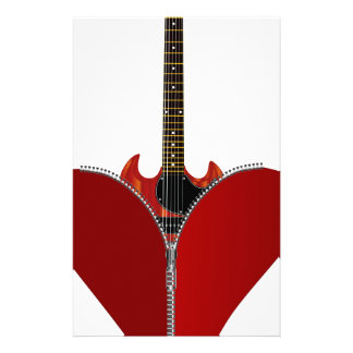 Love Guitar Stationery Design
