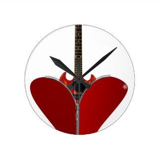 Love Guitar Wall Clocks