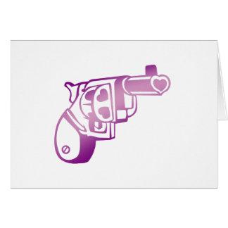 Love gun. note card