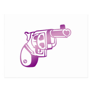 Love gun. postcard