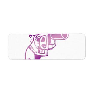 Love gun. return address label