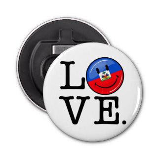 Love Haiti Smiling Flag Bottle Opener