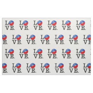 Love Haiti Smiling Flag Fabric