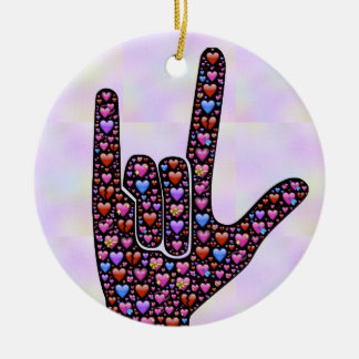 Love Hand Sign ornament