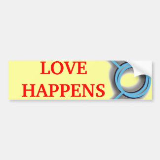 LOVE HAPPENS BUMPER STICKER