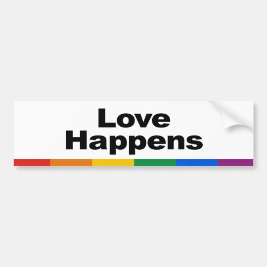 Love Happens Bumper Sticker