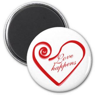 Love Happens 6 Cm Round Magnet