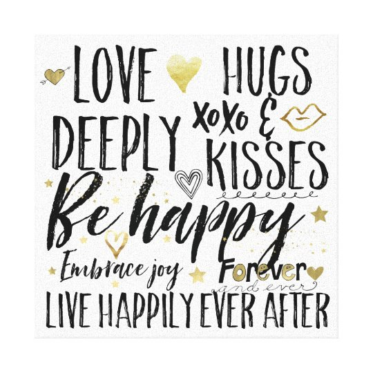 Love Happily Ever After Canvas Print
