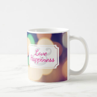Love & Happiness   Bokeh Coffee Mug