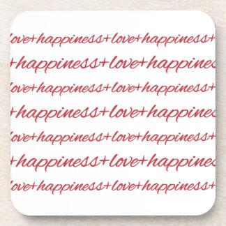 Love + Happiness Cork Coasters